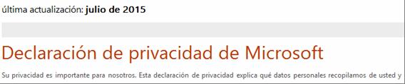 Privacidad Microsoft