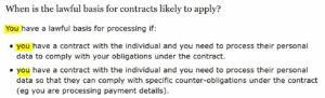Ejecución de contrato